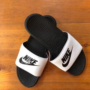 Nike Slides Sandal Men's  14 Slip On White  14
